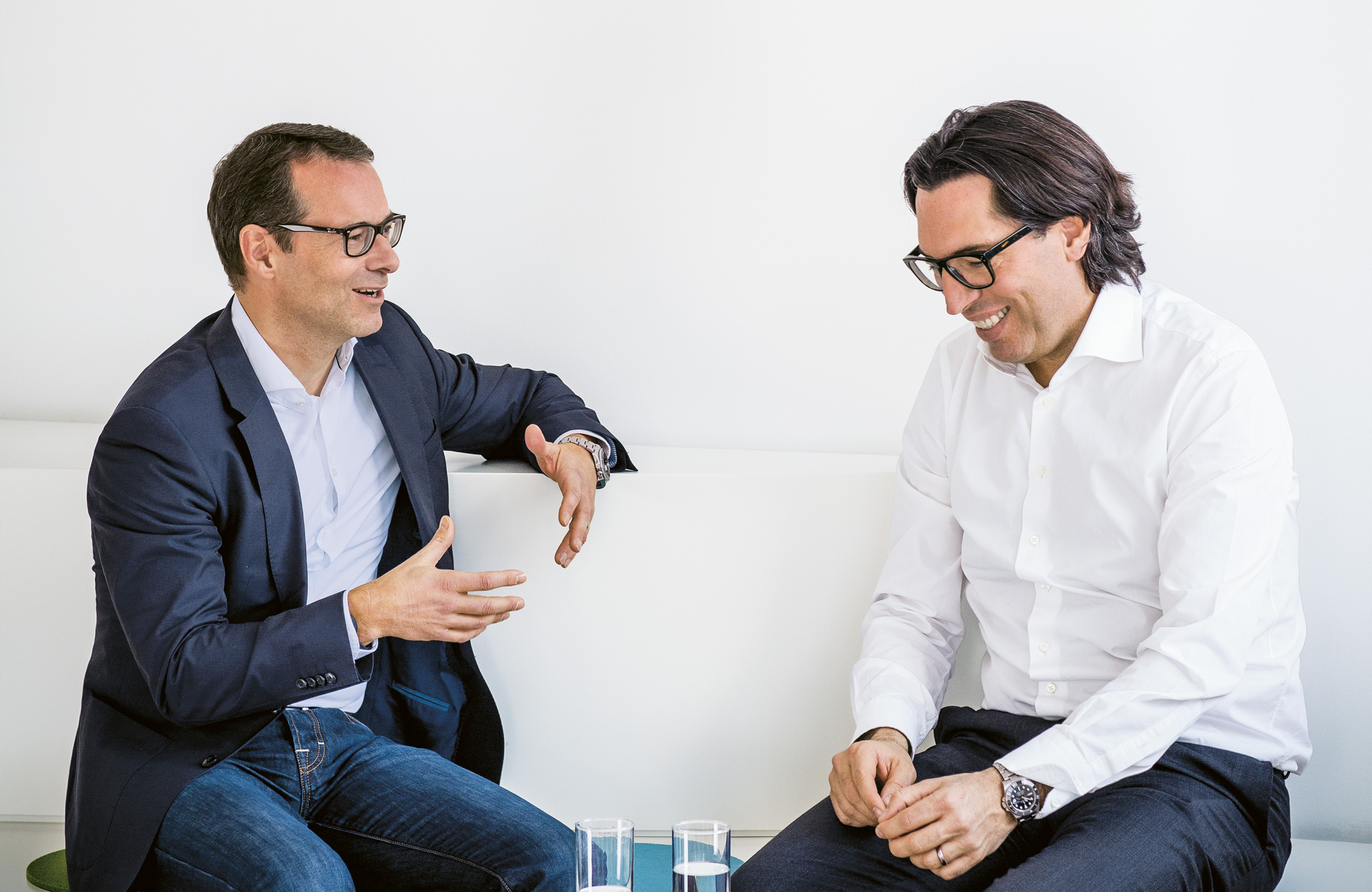 Jörg Trouvain, Managing Director of 7Travel (l), and Dr. Christian Wegner, Member of the Executive Board, Digital & Adjacent, at ProSiebenSat.1 (photo)